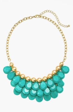 On the list of faves! Turquoise teardrop bead necklace