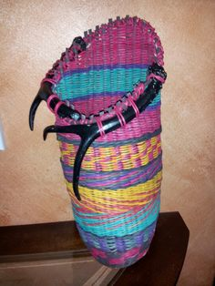Cherokee Blanket by Carol Wuerl.  Class by Jill Choate.  Oregon Basketry Retreat, 2012