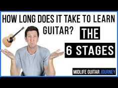 While there are a lot of variables which can have an impact on the length of time it takes you learn guitar, it is not immeasurable. Our guide will give you some real answers on the skill level you can expect after a certain amount of time. Guitar Tips, Guitar Songs, Guitar Lessons, Guitar Strumming, Fingerstyle Guitar, Learn Acoustic Guitar, Learn To Play Guitar, Teach Yourself Guitar, Easy Guitar Tabs