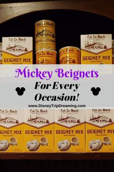 Do you love the beignets from Jazz Kitchen or the Mint Julep Bar at Disneyland? Make them at home in just a few easy steps! Disney World Planning, Disney World Trip, Disney Trips, Disney Parks, Disney Worlds, Disney Vacations, Walt Disney, Disney Gift, Disney Food