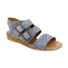 477a1aca8e38e9 Eric Michael Noriko Sandal - Grey Snake  EricMichael Women s Shoes Sandals
