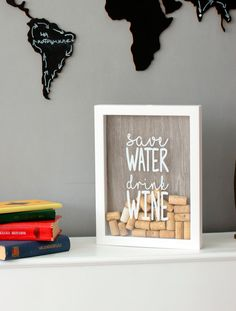 Копилка для винных пробок Save Water
