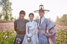 Park Bo Gum, Kim Yoo Jung and Kwak Dong Yeon, Moonlight Drawn By Clouds bts Kim Yoo Jung Park Bo Gum, Kim You Jung, Kwak Dong Yeon, Age Of Youth, Moonlight Drawn By Clouds, Happy End, Cute Romance, Korean Hanbok, Japanese Drama