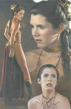 Items similar to Carrie Fisher Slave Leia Star Wars art signed poster print from licensed artist on Etsy - Star Wars Women - Ideas of Star Wars Women women - Carrie Fisher Slave Leia Star Wars art signed poster print Star Wars Film, Star Wars Mädchen, Star Wars Gifts, Star Wars Poster, Carrie Fisher, Star Wars Pictures, Star Wars Images, Leila Star Wars, Foto Fantasy
