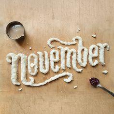 november | #food #typography