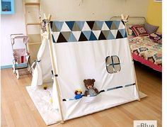 Free shipping Chrismas Gift Children Girl Indian Tent Teepee Wigman Cotton Girl Play Game House
