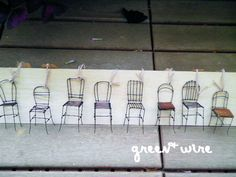 Stühle : green + wire