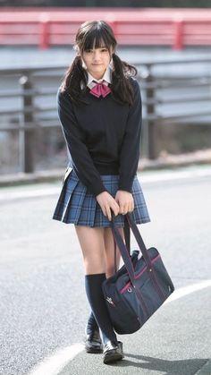 Uniform Map No.: 5326 Uniform Map No. Cute School Uniforms, School Uniform Fashion, Japanese School Uniform, School Uniform Girls, Girls Uniforms, High School Girls, School Girl Japan, School Girl Dress, Japan Girl