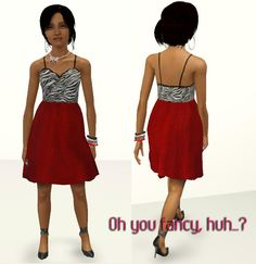 Mod The Sims - Oh you fancy, huh? Classy and casual dress for teens.