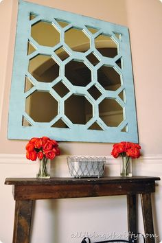 Entryway Decor by All Things Thrifty #DIY #mirror