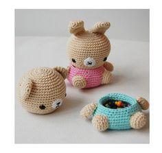 Pepika Amigurumi Pattern - Bear and Bunny Box