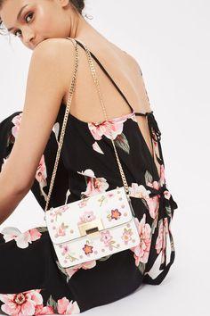 ROSIE white Floral Studded Shoulder Bag - Topshop