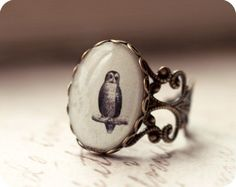 Antique Owl ring by BeautySpotCrafts.deviantart.com on @deviantART