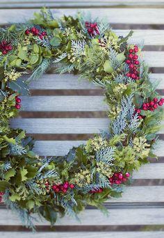 Such a pretty holiday wreath!
