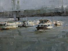 On the River by Tibor Nagy Oil ~ 12 x 16