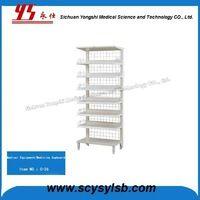 New Product Single Side Steel Medical pharmacy Drug Shelves rack for sale