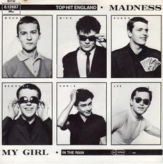 """My Girl is one of a number of hit singles by Madness who are an English pop/ska band from Camden Town in Northwest London. Madness formed in 1976 and were one of the most prominent bands of the late Tone"""" ska revival, achieving most of. Ska Music, Rude Boy, Northern Soul, Black Card, English, Cultural, Coming Of Age, Music Albums, Musical"""