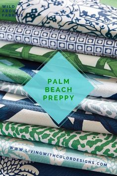 Palm Beach Preppy Style - Living With Color Designs Beach Cottage Style, Beach Cottage Decor, Coastal Style, Coastal Decor, Cottage Ideas, Lake Cottage, Cottage House, Coastal Living, Cabana
