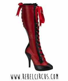 dbc6f225f874 Victorian Style Boots - Bordello Kinky Boots 4 Inch Heel Ribbon Lace Up  Knee High Length Boots with Concealed Platforms Heel Height Platform  4  Heel
