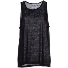 T By Alexander Wang Tank Top ($107) ❤ liked on Polyvore featuring tops, black, sleeveless tank, pocket tank top, black top, sleeveless tank tops and t by alexander wang