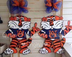 """Auburn Tiger """"Aubie"""" Door Hanger"""