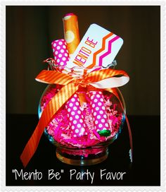 """""""Mento Be"""" Party Favor"""