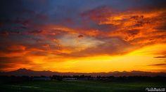 """""""Farmland sunset"""" Outside of Mead, Colorado"""