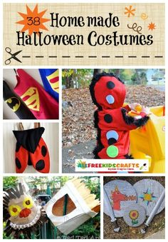 38 Homemade Halloween Costumes: Easy Costumes for Kids. Whether you need superhero costumes, animal costumes, or DIY costumes fit for a princess, you'll find a project to love on this list. | AllFreeKidsCrafts.com
