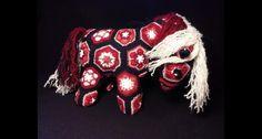 Cavallo all'uncinetto african flower - Horse pony amigurumi, crochet puppet