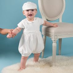 55c3a8df848b Oliver Bubble Romper. Boys Christening RomperBaby ...