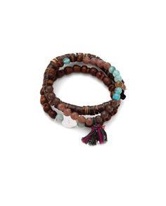 CHAN LUU • Stretch bracelet set #boho