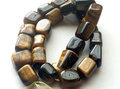 Tigers Eye Plain Tumbles Tigers Eye Beads Tigers by gemsforjewels