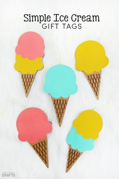 Paper Ice Cream Cone Gift Tags - Consumer Crafts