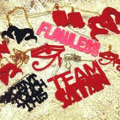 www.bonescouture.etsy.com #jewelry #accessories #goth #grunge #pink #handmade #nameplate