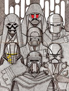 The Knights of Ren by https://masa-mima.deviantart.com/art/Knights-of-Ren-658131559 #starwars