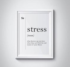 Stress Funny Definition Print Gift for Doctor Hospital Wall Art Funny Definition Print Scandinavian Minimalist Office Decor Psychology Gift by HQstudio on Etsy Peace Quotes, Words Quotes, Life Quotes, Funny Definition, Stress Funny, Mom Quotes From Daughter, Period Humor, Cards