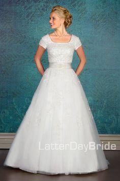 Modest Wedding Dress, Steinbruck   LatterDayBride & Prom