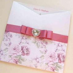 Rose Wallet Wedding Invitation