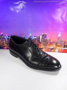 Mens shoes JOHNSTON MURPHY Presidents Collection VTG black dress oxfords sz 10 M #JohnstonMurphy #Oxfords