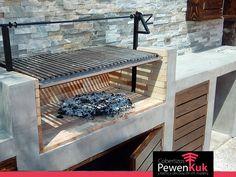 Quinchos Construction in Microcement Covered Outdoor Kitchens, Outdoor Kitchen Plans, Outdoor Oven, Outdoor Kitchen Design, Outdoor Cooking, Barbecue Garden, Backyard Barbeque, Backyard Patio, Parrilla Exterior