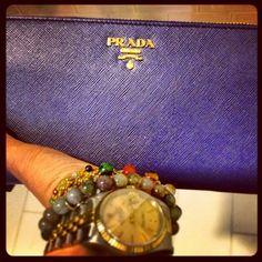 Prada Saffiano Metal Short Flap Wallet | Carry Me | Pinterest ... - Prada clutch cornflower blue