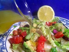 I just saw this recipe on her show, and had to try it out! It is delicious, refreshing, and brightens up any salad. Simple ingredients that you always have on hand. No need to buy premade bottled dressing when you can make it for cheap at home, and tastes much better!!!
