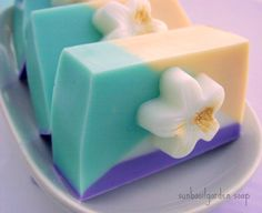 WATER LILY Soap  Natural Soap  Pastels  by SunbasilgardenSoap, $5.50