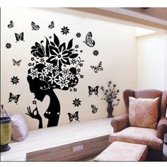 $6.68  - MZY LLC TM Flower Fairy Easy Apply Wall Sticker For Home Decor Decorative Adhesive Vinyl Quote Sticker Decor DIY Art >>> You can get additional details at the image link. (This is an affiliate link) #WallStickersMurals