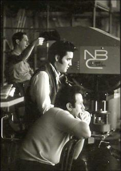 Elvis and Joe Esposito - NBC Studios - 1968