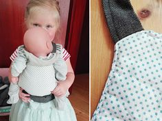 DIY: Eine schnell genähte Puppentrage - Expolore the best and the special ideas about Fashion dolls Baby Clothes Storage, Sewing Baby Clothes, Designer Baby Clothes, Knitted Baby Clothes, Baby Born Kleidung, Manners For Kids, Disney Baby Clothes, Doll Carrier, Gender Neutral Baby Clothes