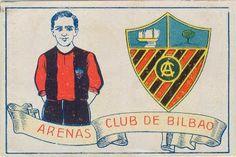 Arenas Club de Bilbao. Cromos Amatler. Temporada 1928-29.