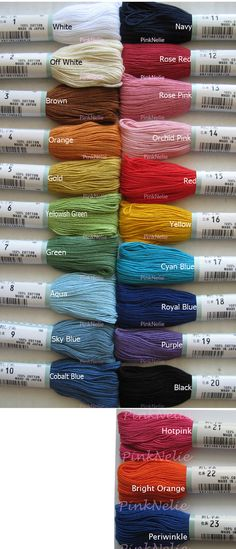 * CHOOSE ONE COLOR, Please let me know which color you want to receive Per Each  44 yards( 40m ) per Skein  100% Finest Egyptian Cotton  For Quilting