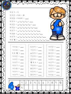 Hojas para repasar las tablas de multiplicar - Imagenes Educativas Preschool Math, School Classroom, Teaching Math, Money Worksheets, Kids Math Worksheets, Math Exercises, School Frame, Multiplication Facts, Simple Math
