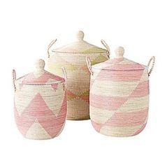 La Jolla Baskets – Pink by Serena & Lily